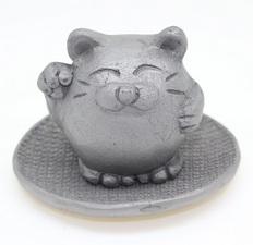 招き猫(台付き)