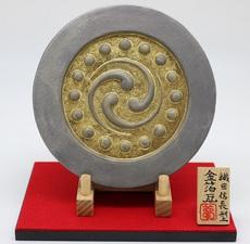 金箔瓦(織田信長型(数珠入り三つ巴紋))