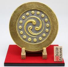 金箔瓦(豊臣秀吉型(数珠入り三つ巴紋))