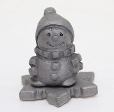 人形シリーズ(雪だるま(雪の結晶の台付き))
