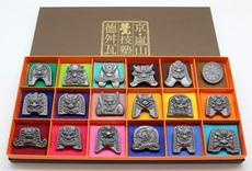4㎝ミニ鬼瓦(4cmミニ鬼瓦18セット(化粧箱入り))