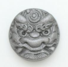ピンバッジ(ミニ鬼瓦2.7㎝)(水)