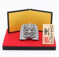 4㎝ミニ鬼瓦金屏風付き(剣)