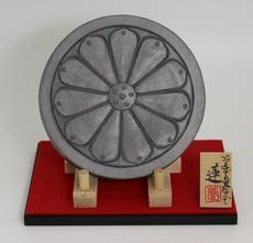 鬼面鬼瓦(13㎝前後)(蓮(13㎝前後))