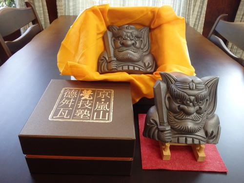 13㎝の鍾馗さんの置き物化粧箱セットです.JPG